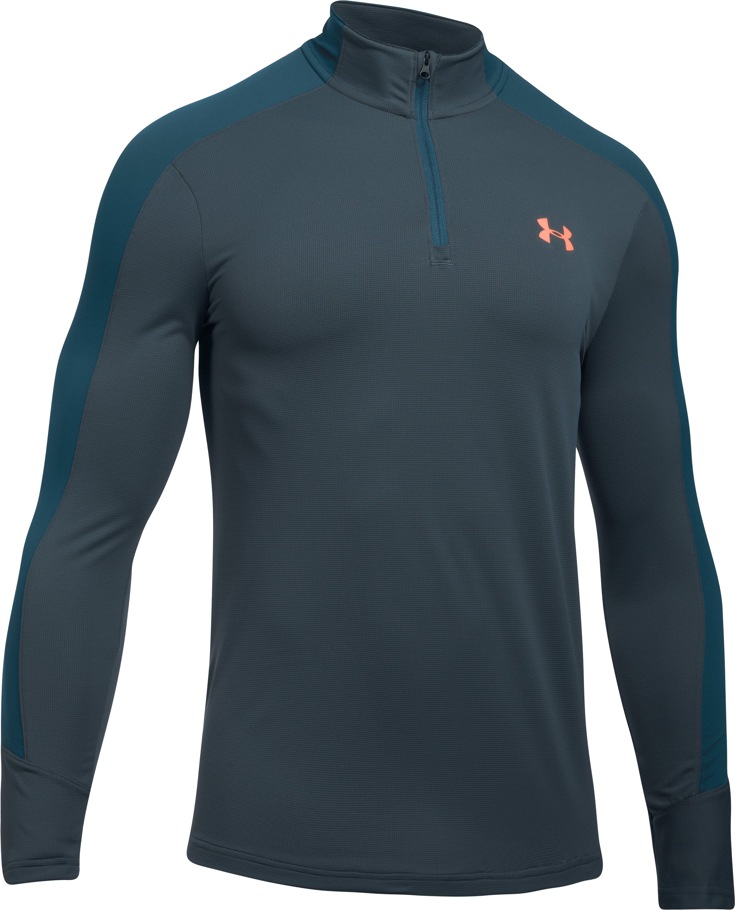 Men's UA Threadborne Center Court ¼ Zip , STEALTH GRAY,