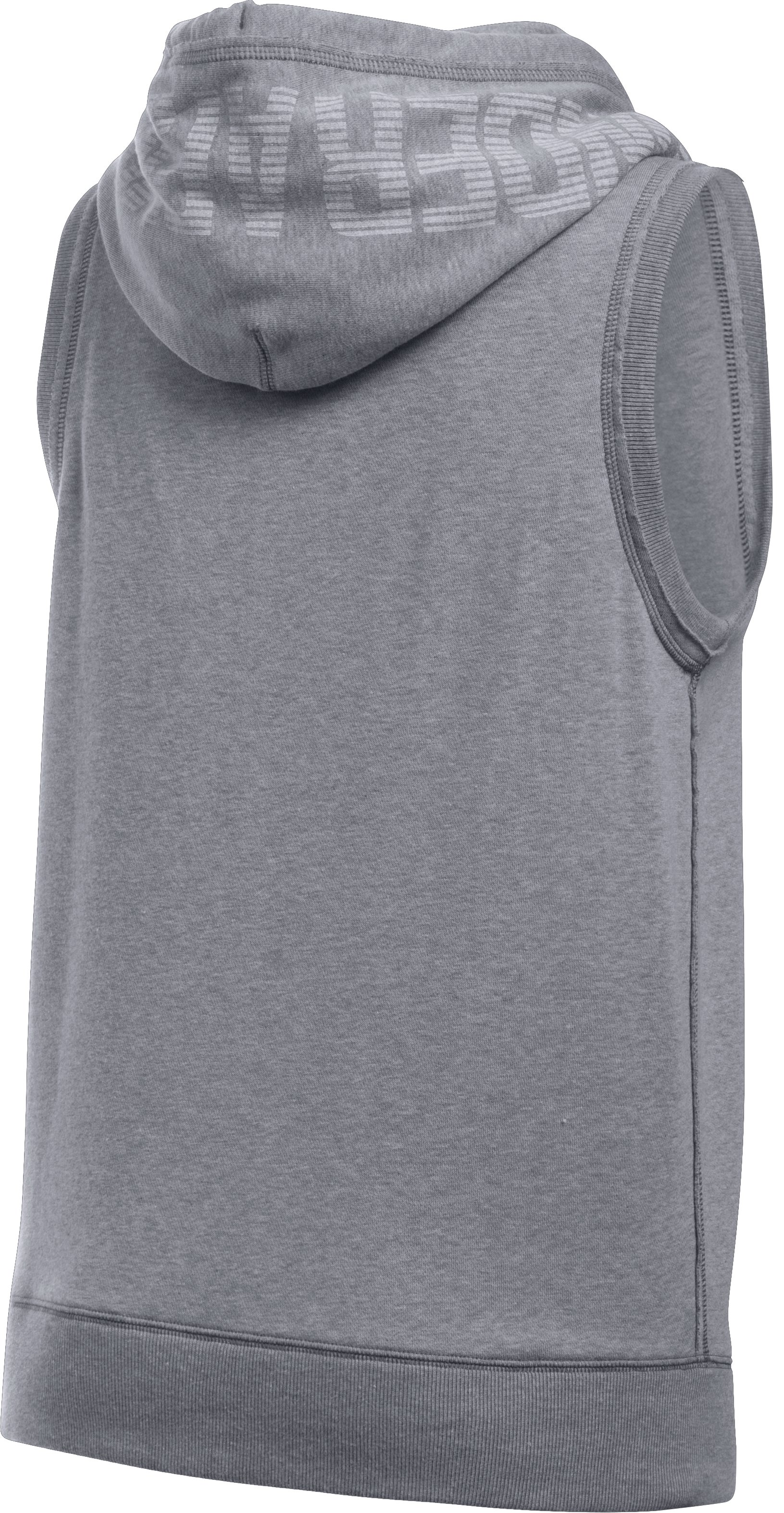 Women's UA Favorite Fleece Word Mark Vest, True Gray Heather