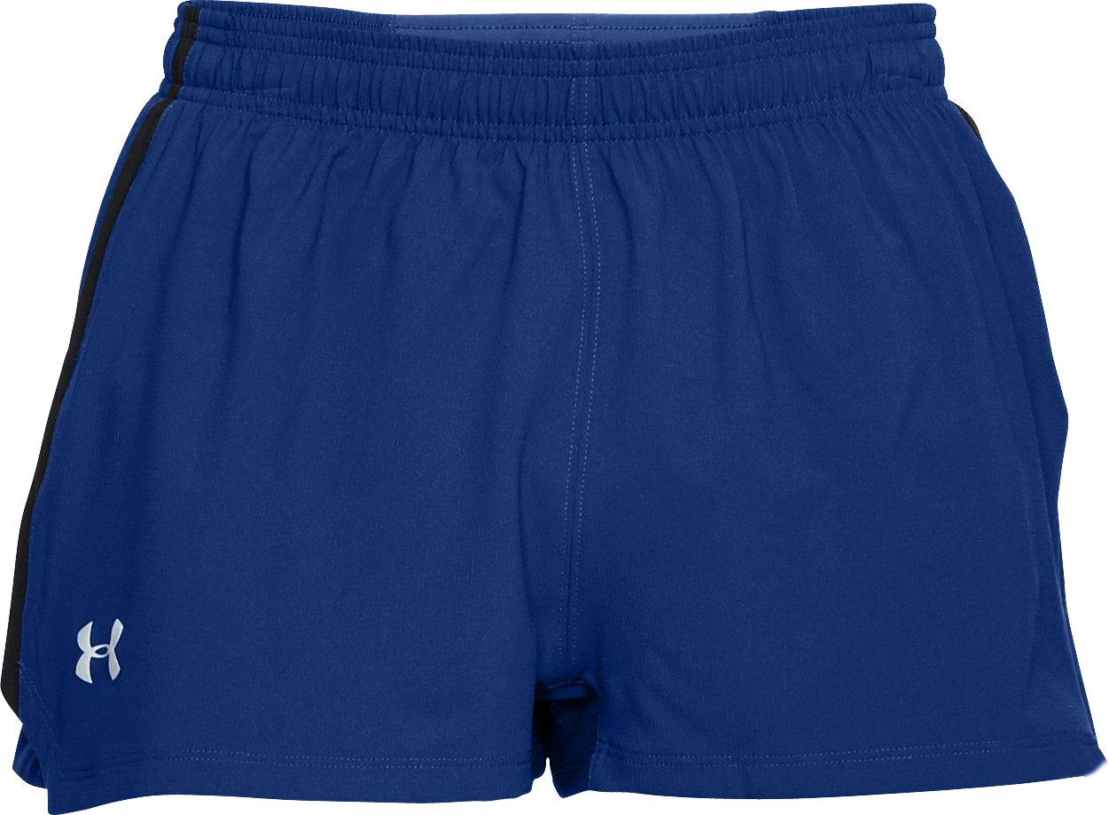 Men's UA Launch Split Shorts, FORMATION BLUE, undefined