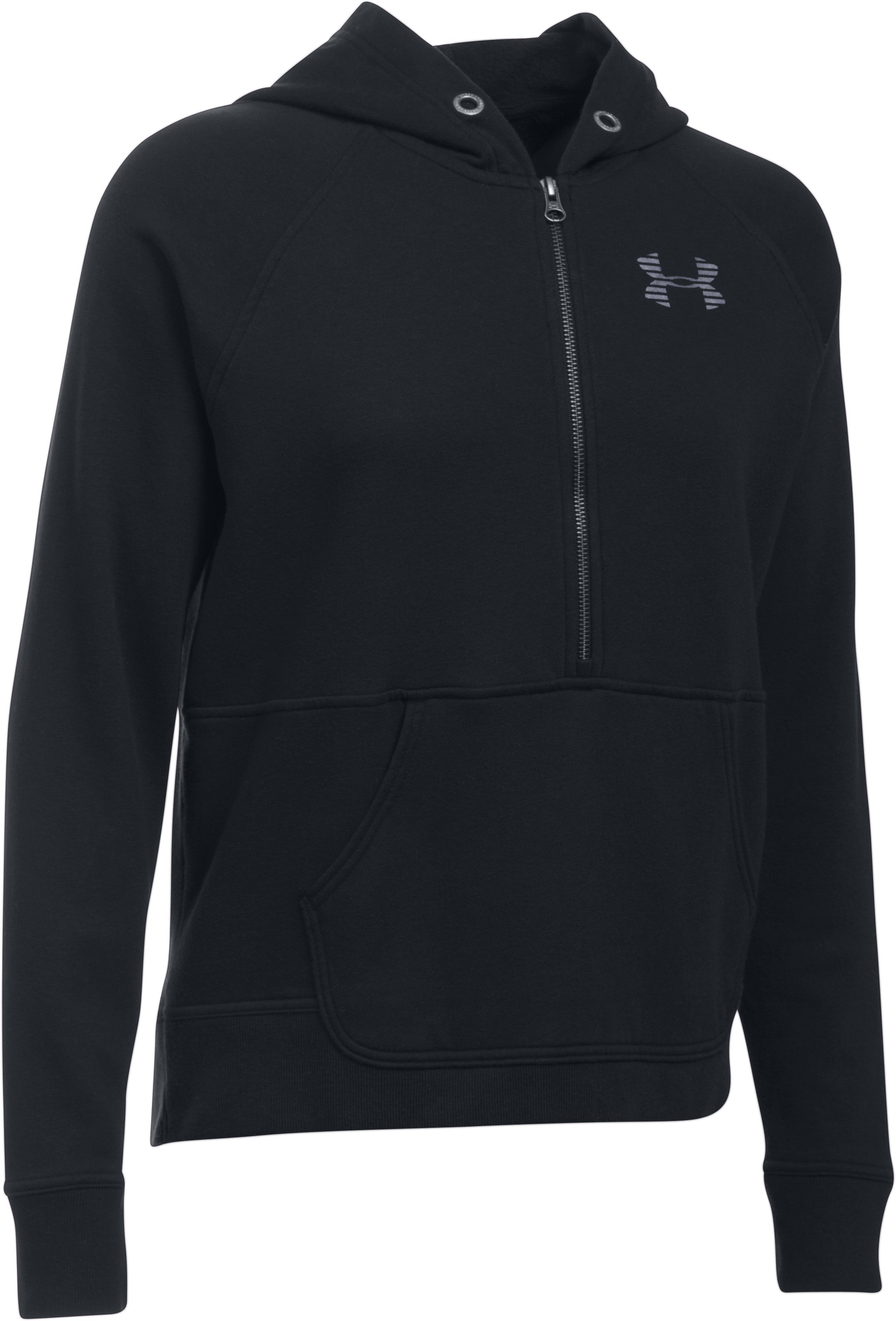 Women's UA Favorite Fleece 1/2 Zip, Black ,