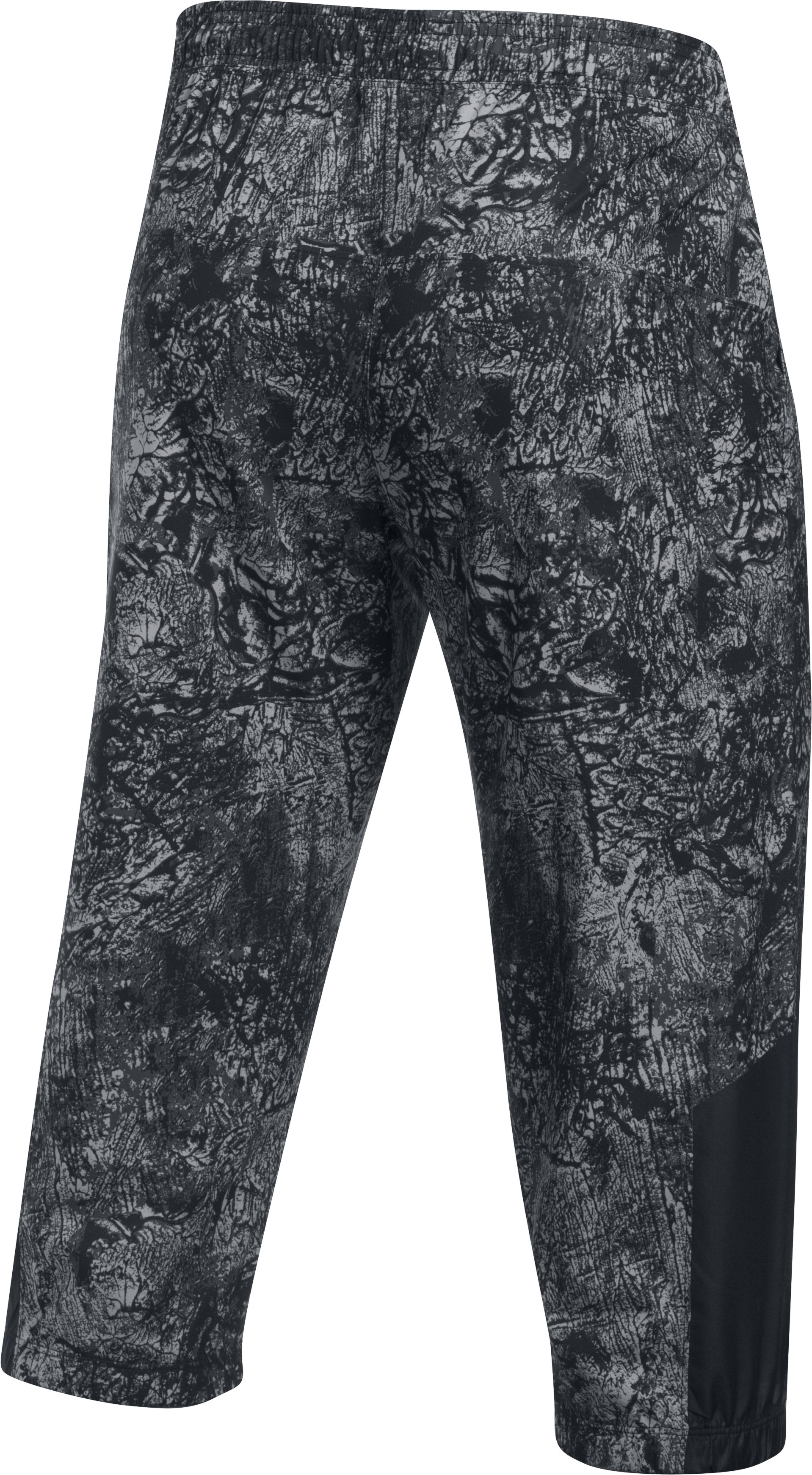 Men's UA Storm Run ¾ Pants, Black , undefined