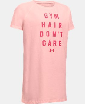Girls' UA Gym Hair Don't Care T-Shirt  1 Color $19.99