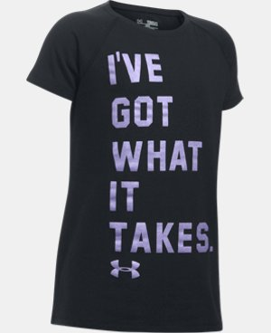 New Arrival Girls' UA Got What It Takes Short Sleeve T-Shirt  1 Color $19.99