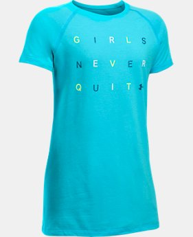Girls' UA Never Quit Short Sleeve T-Shirt  1 Color $19.99