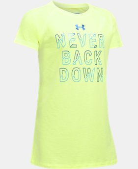 New to Outlet Girls' UA Never Back Down T-Shirt  1 Color $13.99