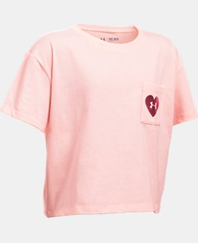 Girls' UA V-Day Pocket Short Sleeve T-Shirt  1 Color $17.99