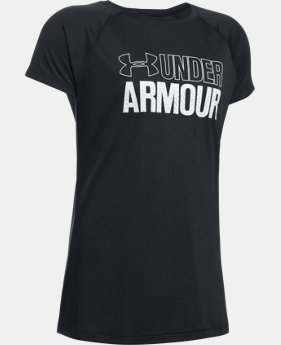 Girls' UA Wordmark T-Shirt  2 Colors $13.99