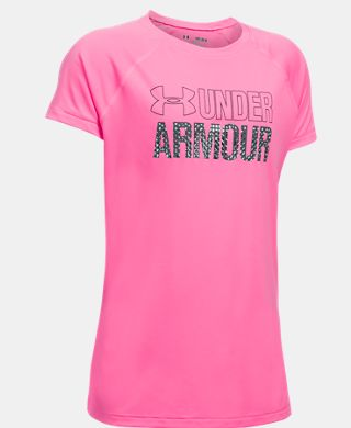 Girls' UA Wordmark T-Shirt