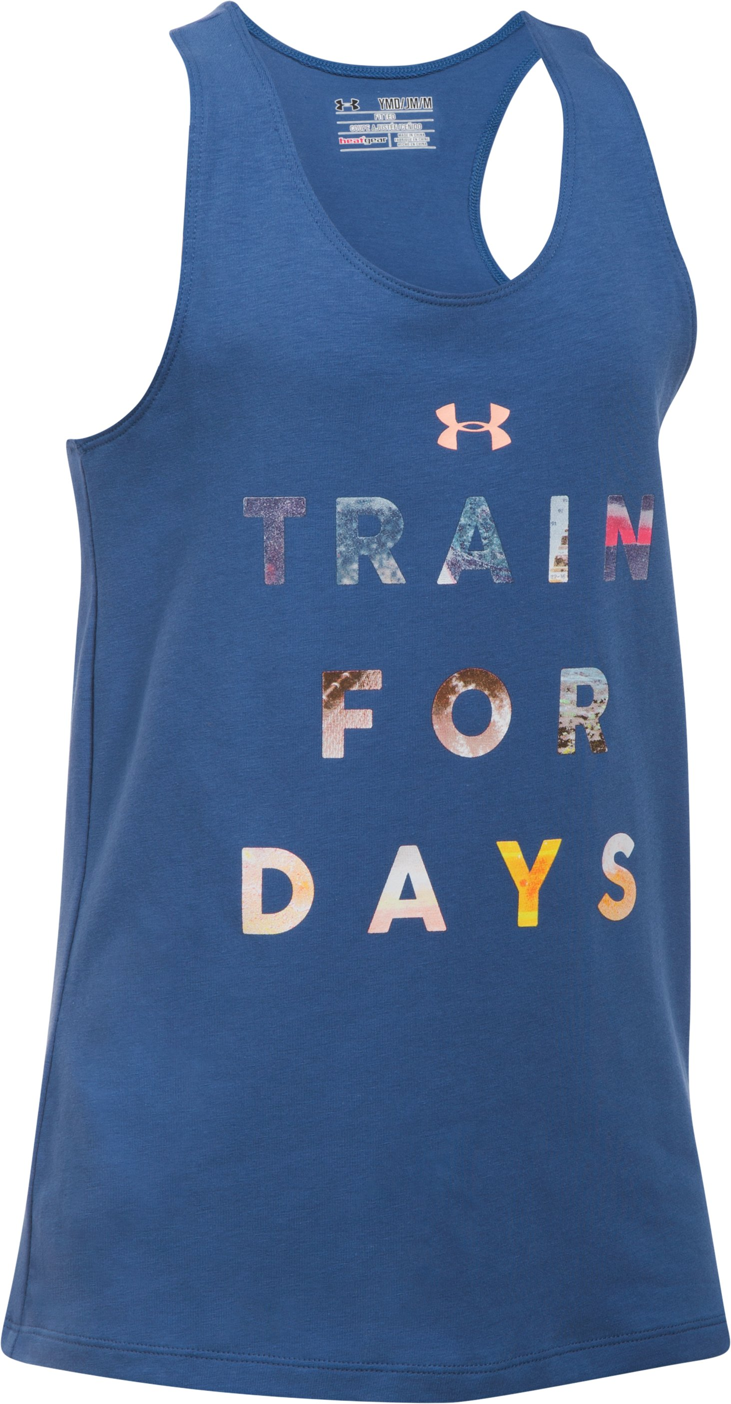 Girls' UA Train For Days Tank, DEEP PERIWINKLE