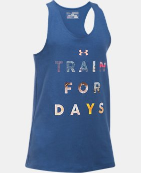 Girls' UA Train For Days Tank  1 Color $11.24