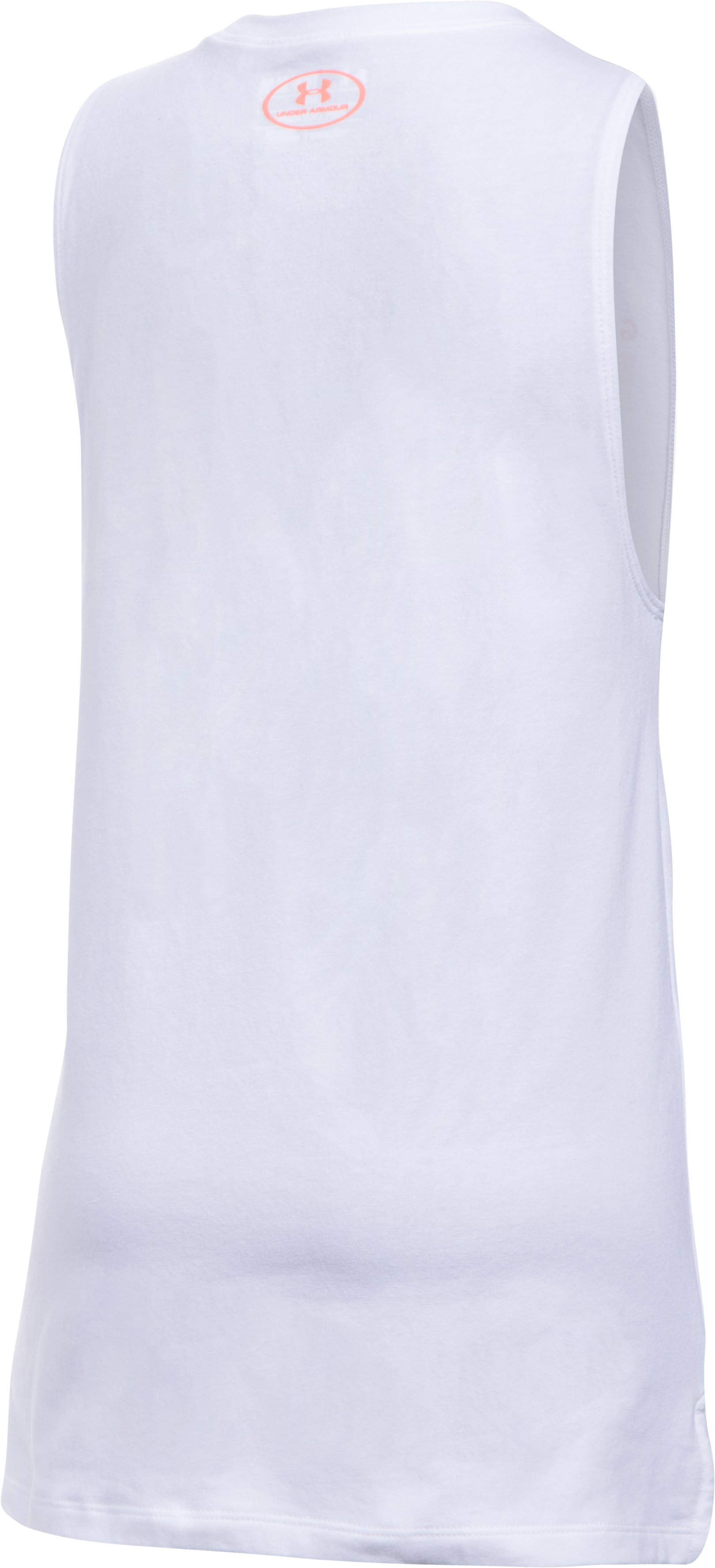 Girls' UA Run The World Muscle Tank, White,