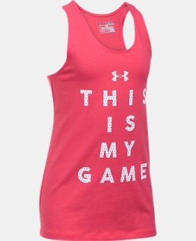 Girls' UA Game On Tank  1 Color $11.99