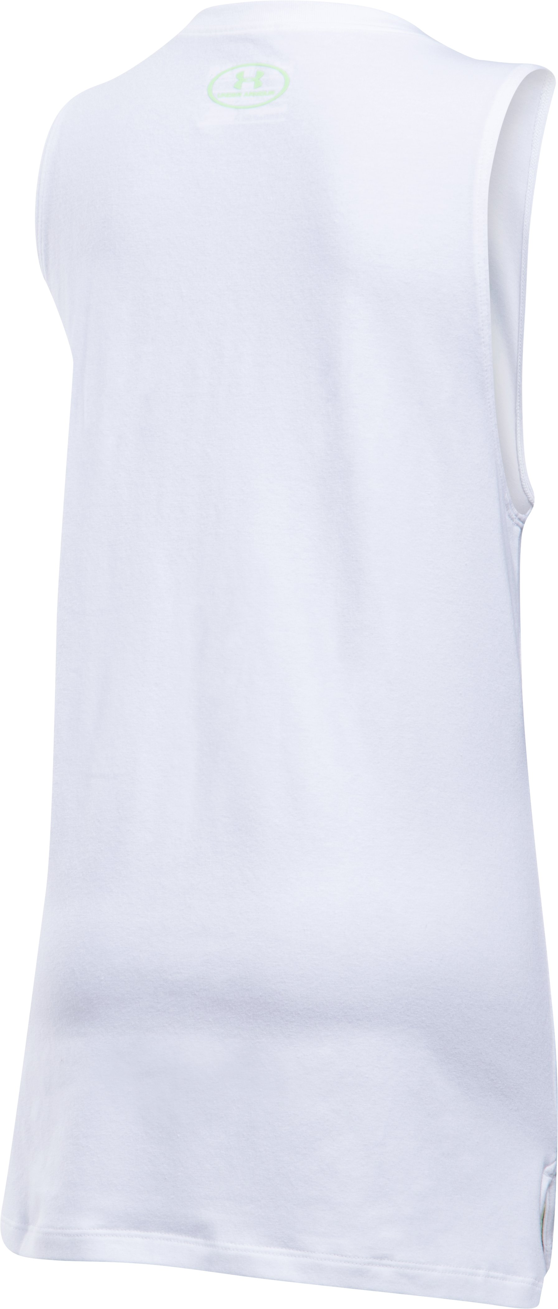 Girls' UA Step It Up Muscle Tank, White,