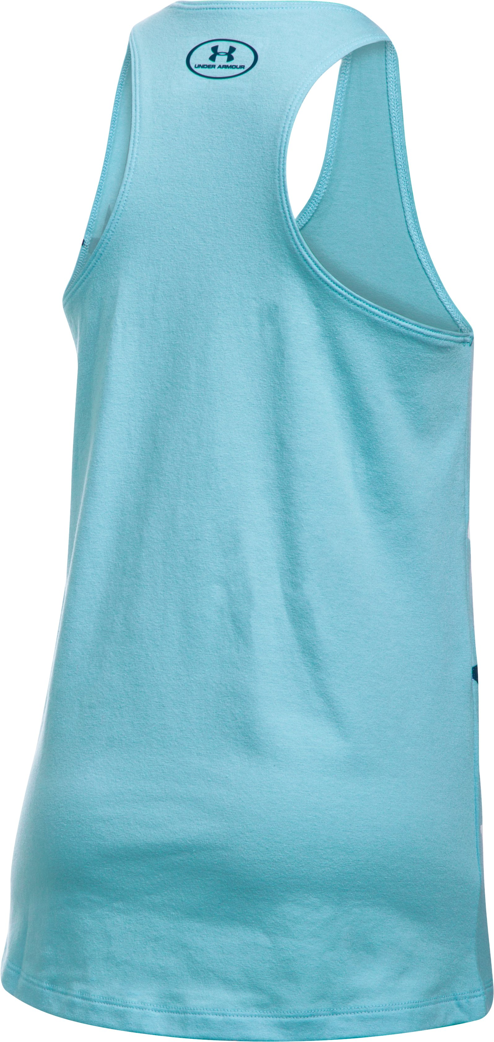 Girls' UA Stars Tank, OPAL BLUE,