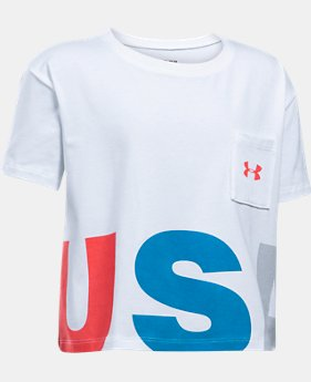 Girls' UA USA Crop Short Sleeve T-Shirt  1 Color $14.99
