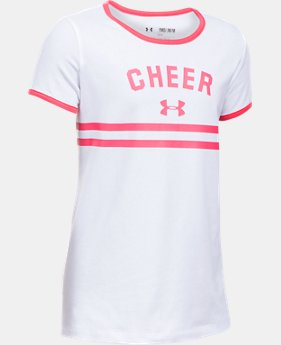 Girls' UA Cheer Ringer Short Sleeve T-Shirt  1 Color $18.99