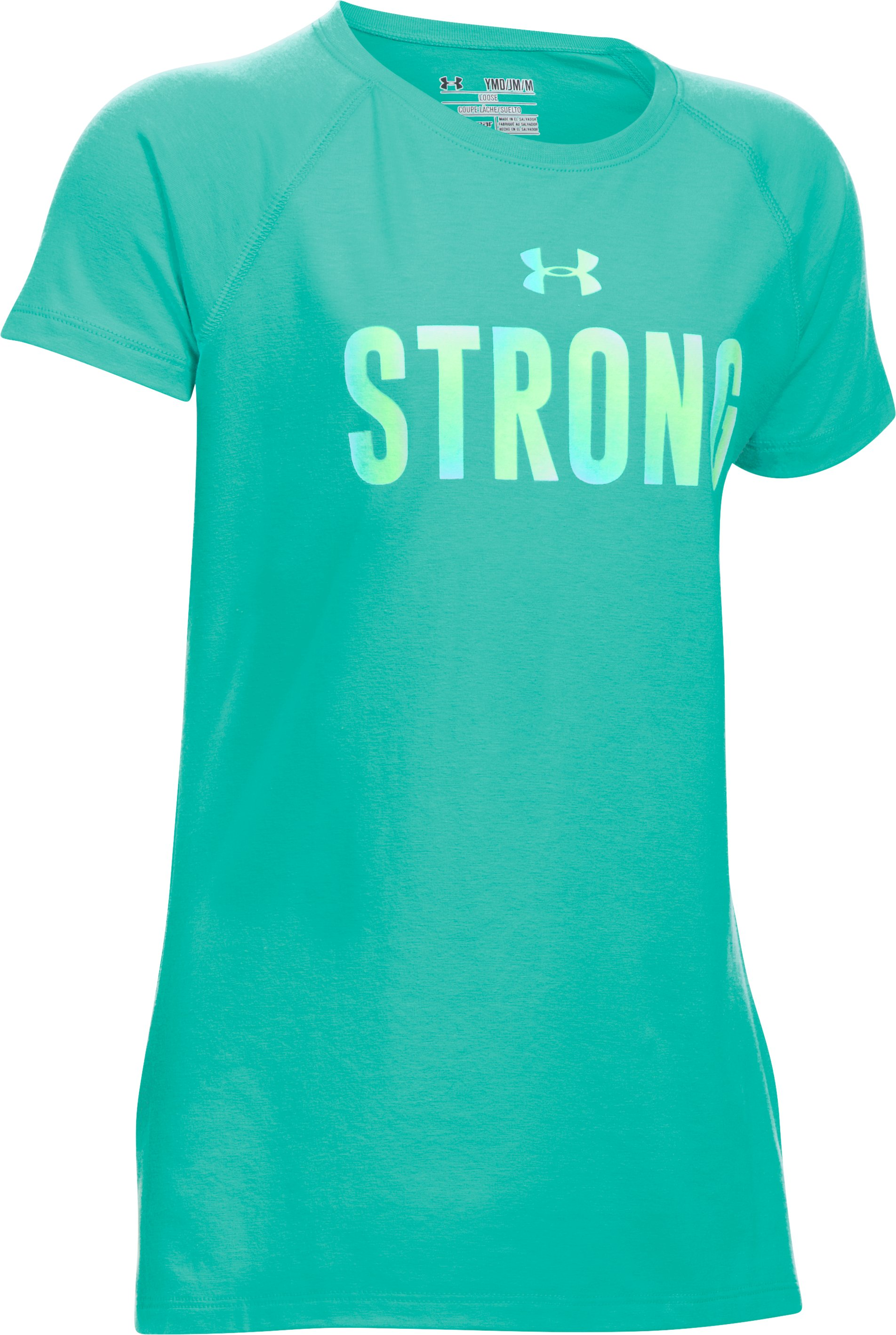 Girls' UA Strong Girl Short Sleeve T-Shirt, Mosaic,