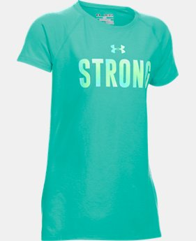Girls' UA Strong Girl Short Sleeve T-Shirt  1 Color $19.99