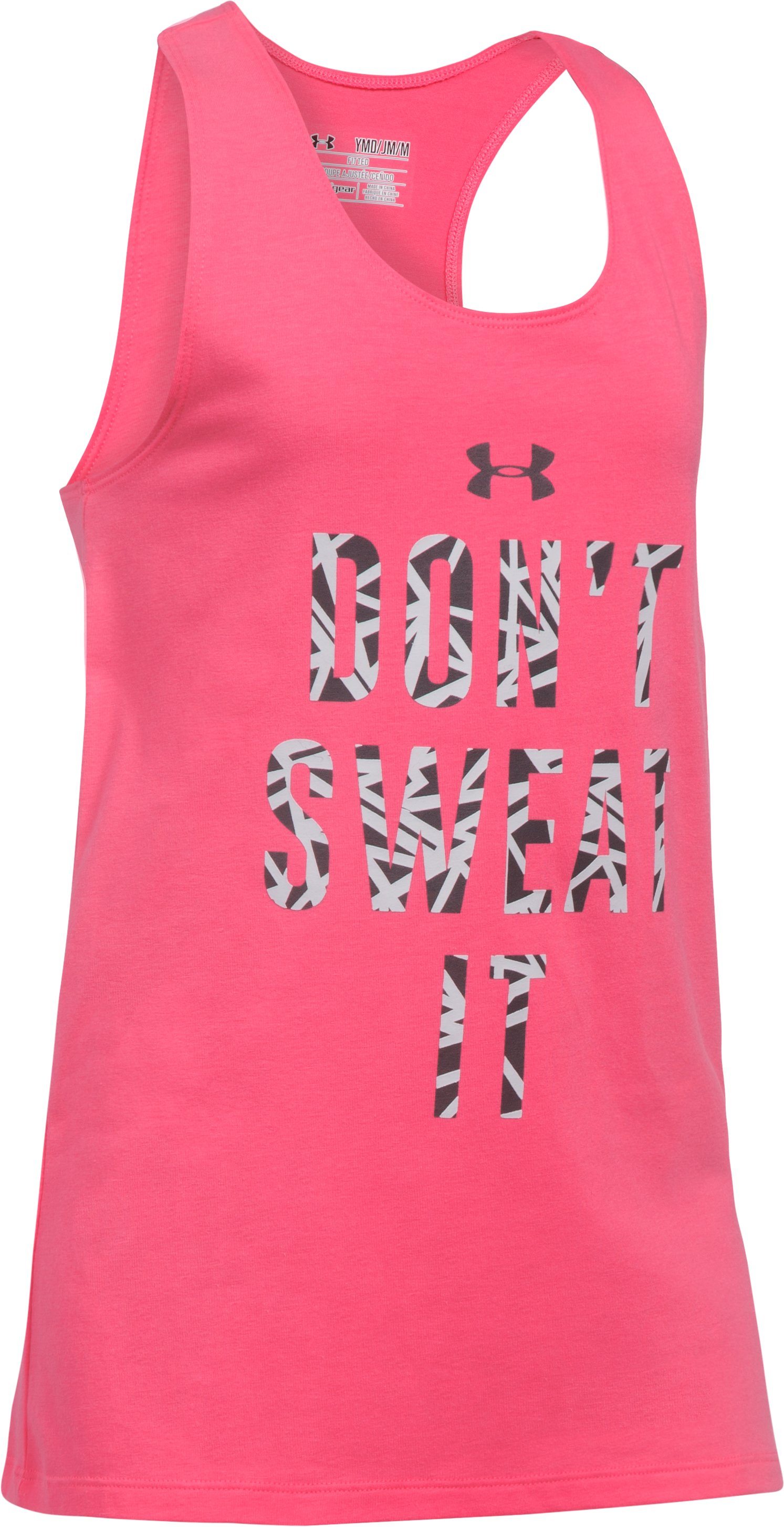 Girls' UA Don't Sweat It Tank, SUPER PINK, undefined