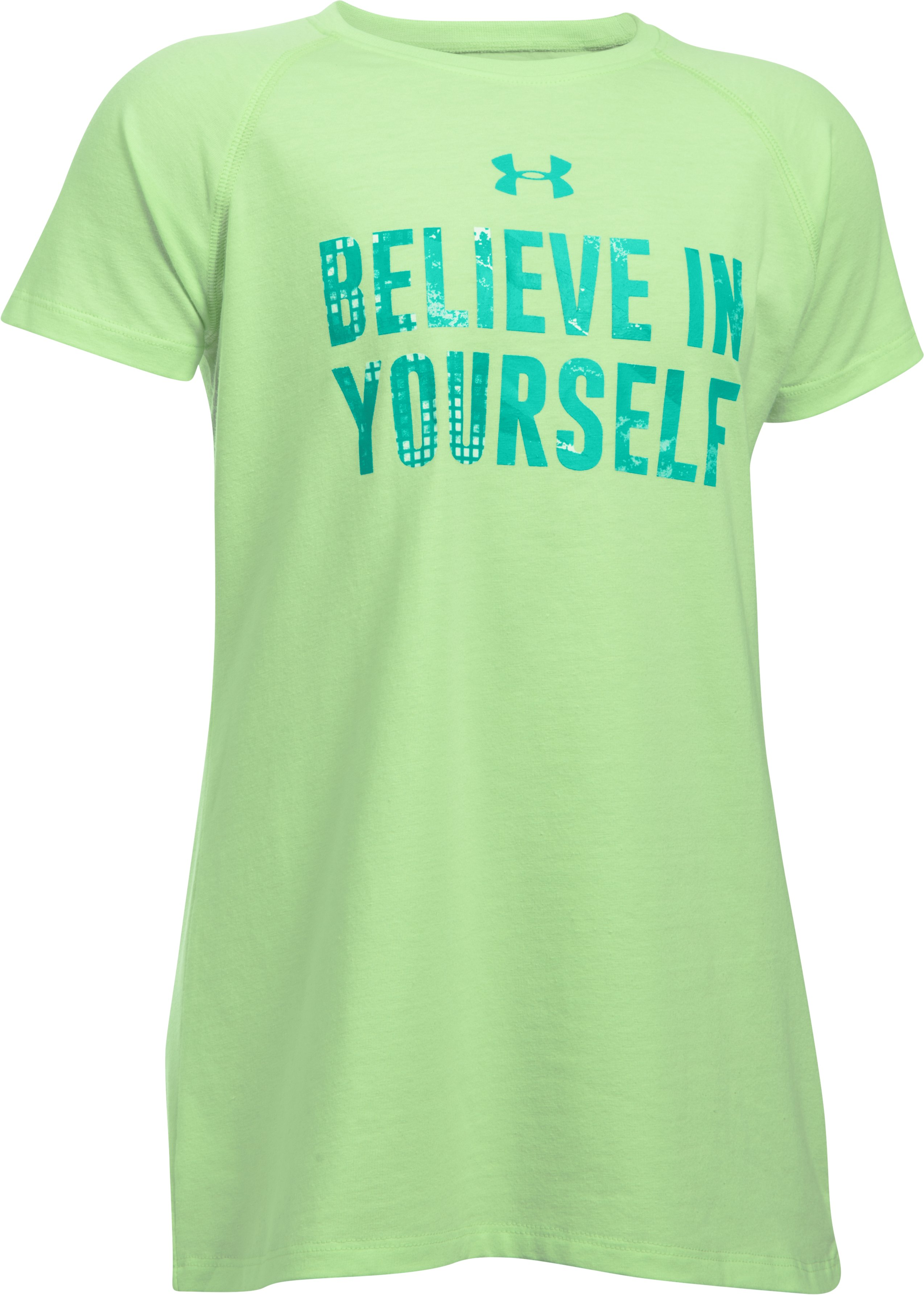 Girls' UA Believe In Yourself Short Sleeve T-Shirt, SUMMER LIME,