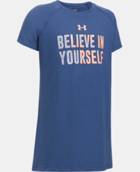 New to Outlet Girls' UA Believe In Yourself Short Sleeve T-Shirt  1 Color $13.99