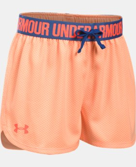Girls' UA Play Up Mesh Shorts   $12.94