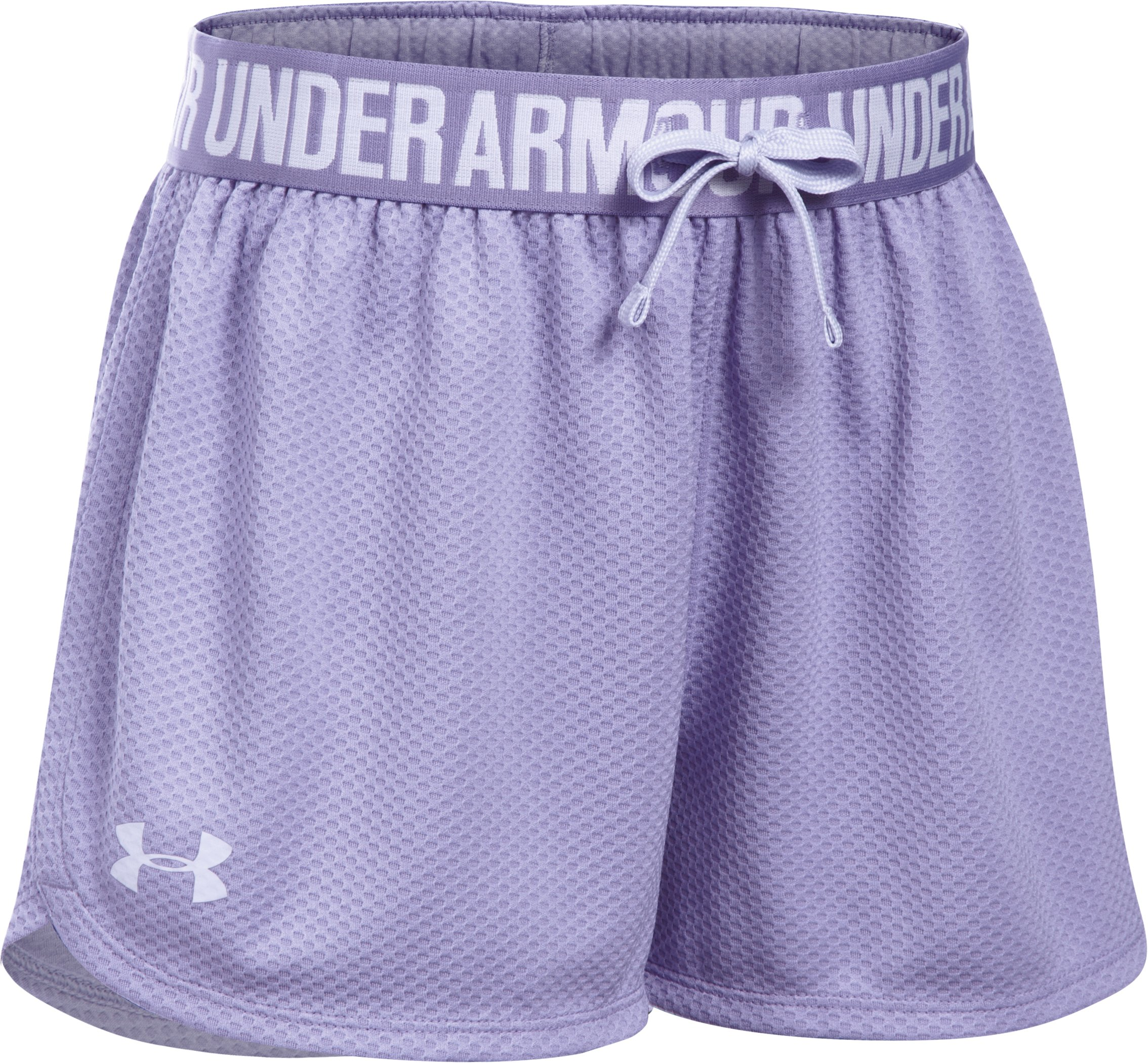 Girls' UA Play Up Mesh Shorts, DARK LAVENDER, undefined
