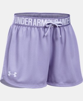 Girls' UA Play Up Mesh Shorts  1 Color $15.99 to $17.99