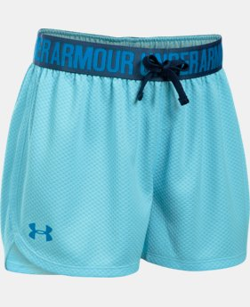 Girls' UA Play Up Mesh Shorts  1 Color $17.99