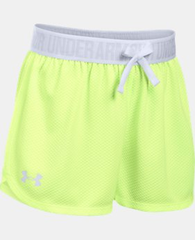 New Arrival  Girls' UA Play Up Mesh Shorts   $25.99