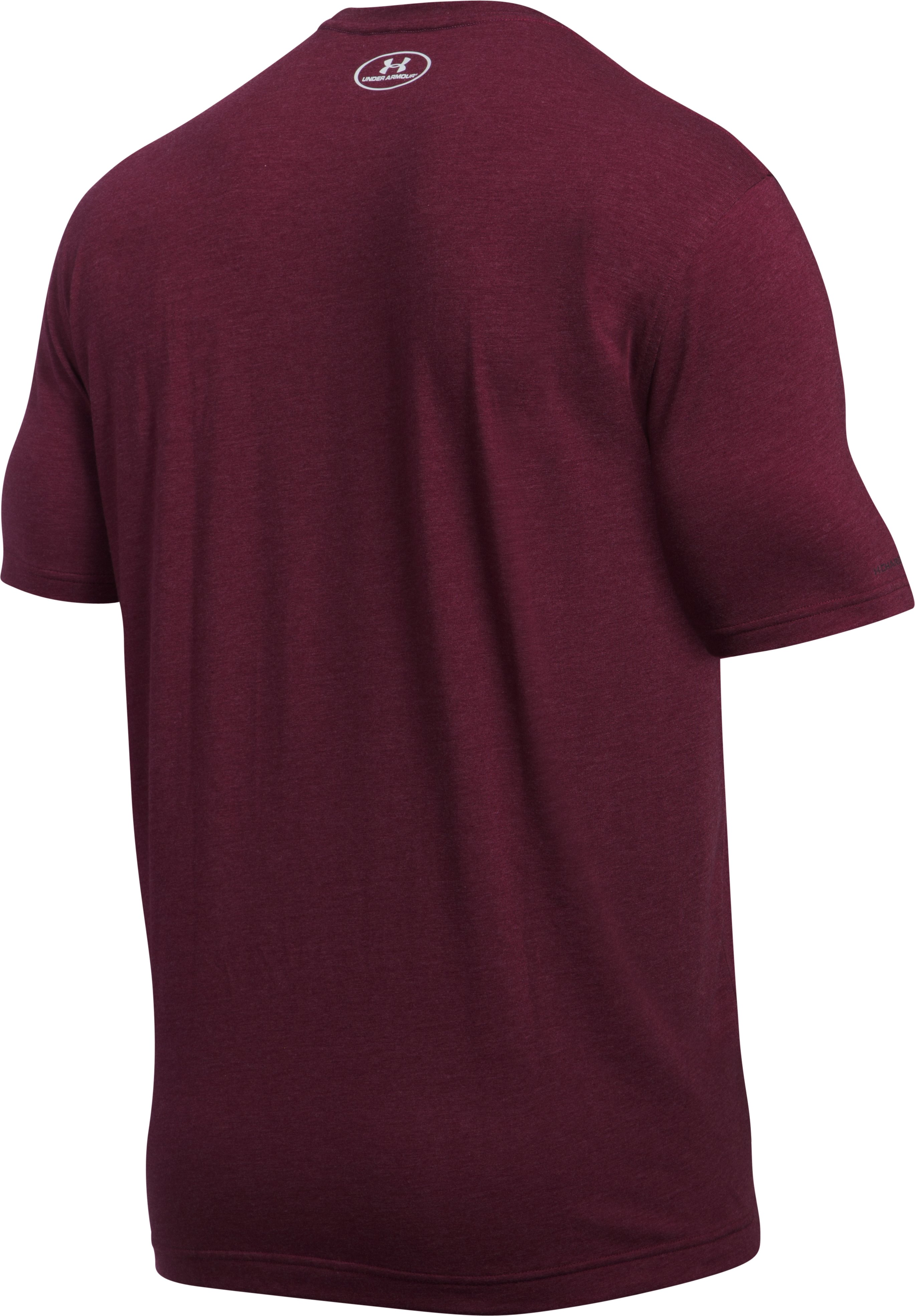 Men's UA Blow Out Logo T-Shirt, MAROON MEDIUM HEATHER, undefined