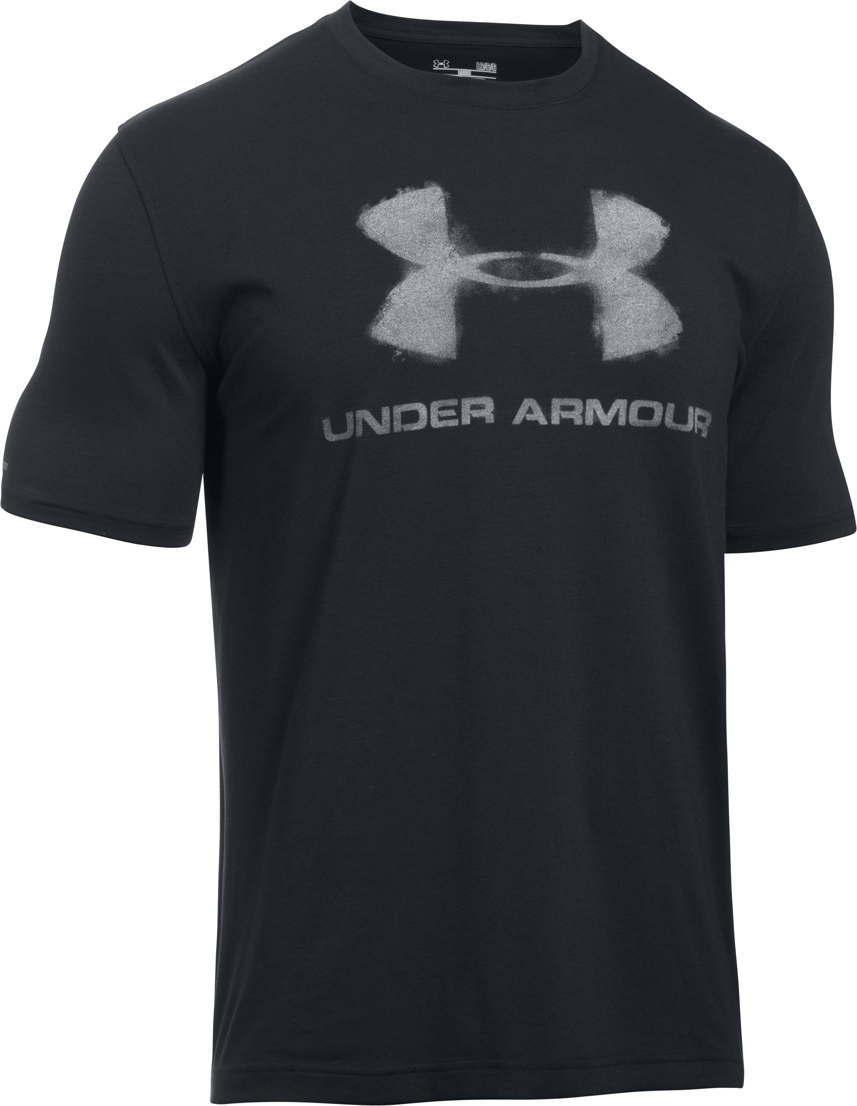 Men's UA Chalked Logo T-Shirt, Black , undefined