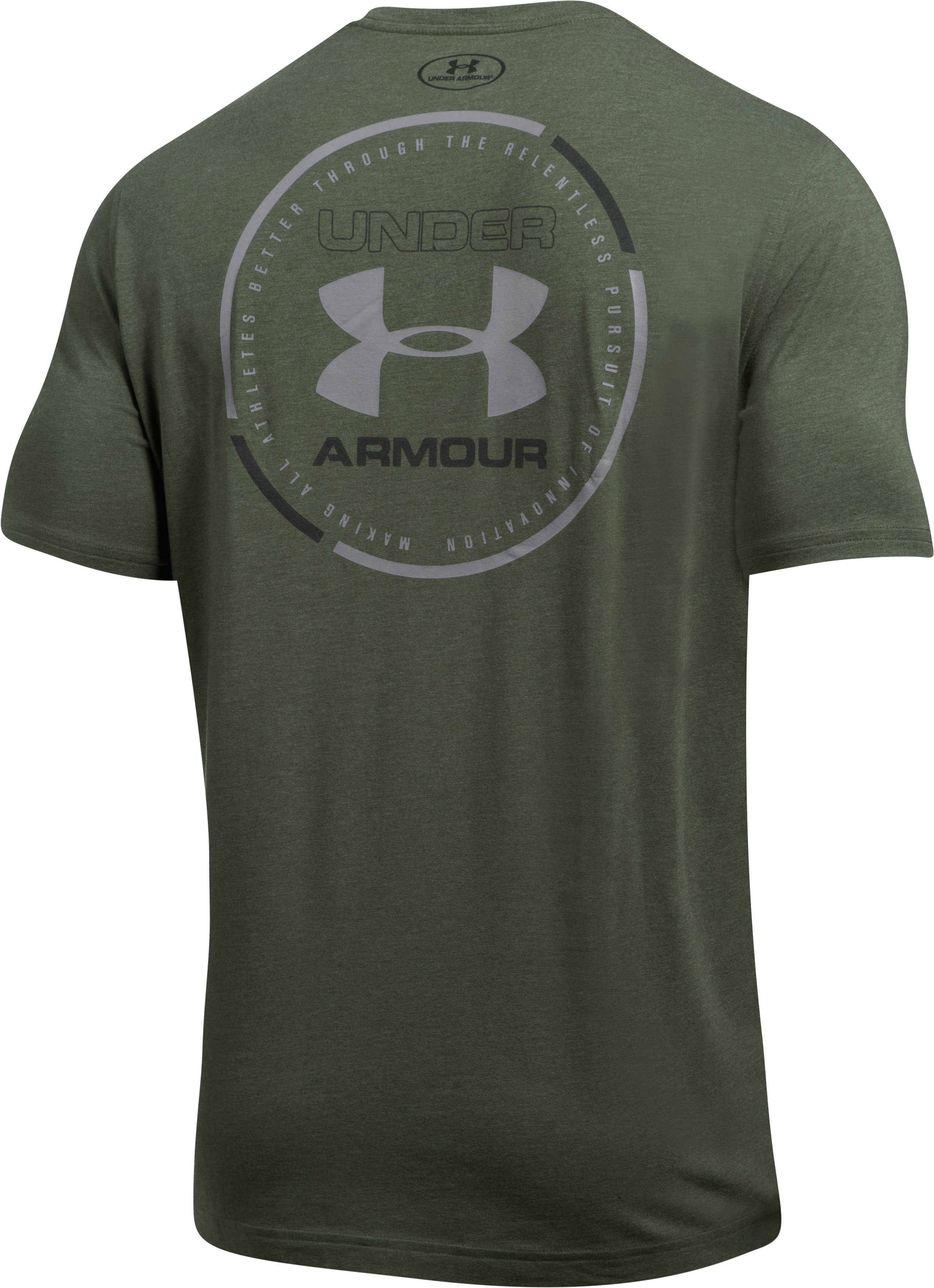 Men's UA Mantra T-Shirt, DOWNTOWN GREEN MEDIUM HEATHER, undefined
