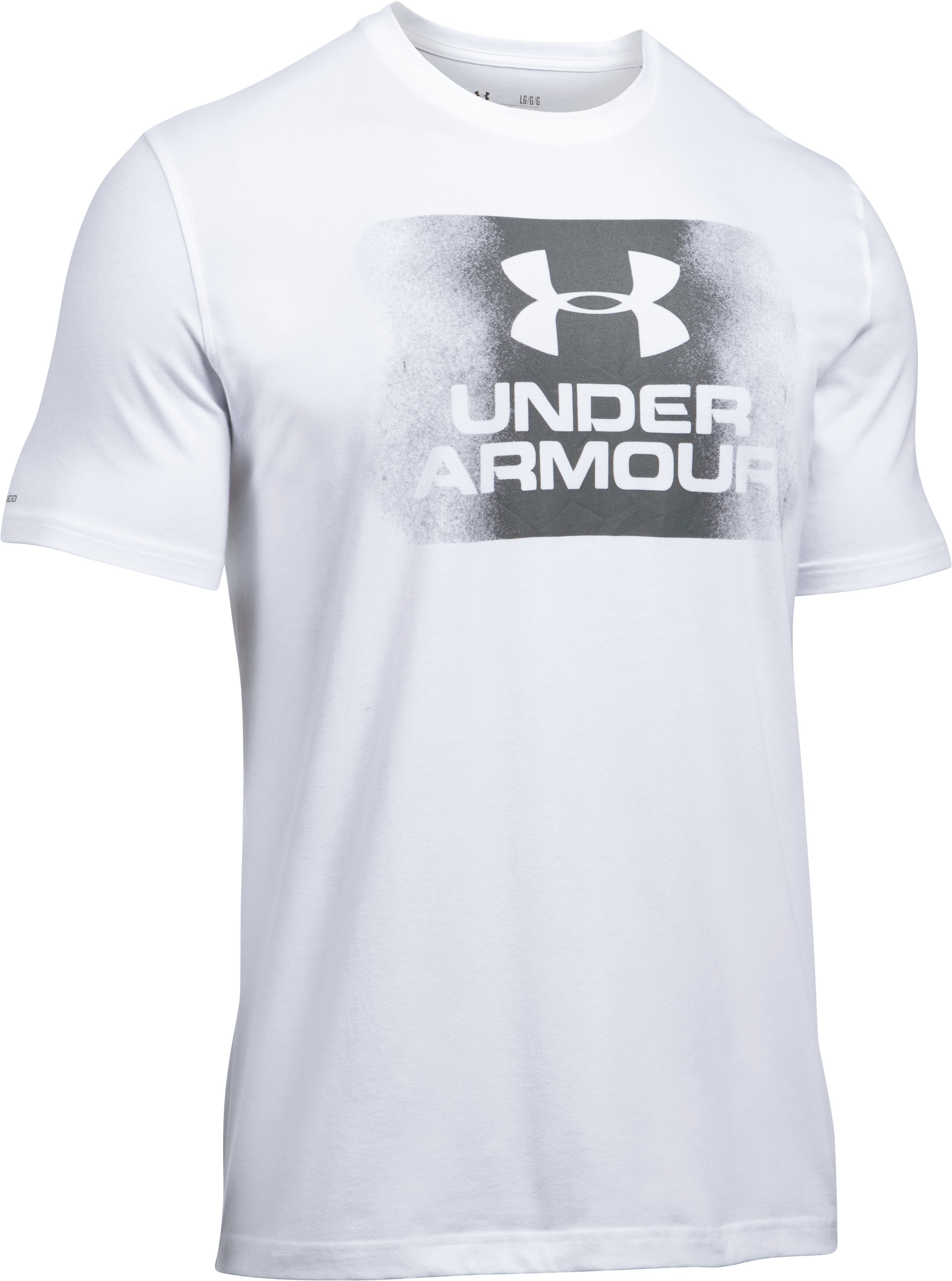 Men's UA Overspray Logo T-Shirt, White, undefined