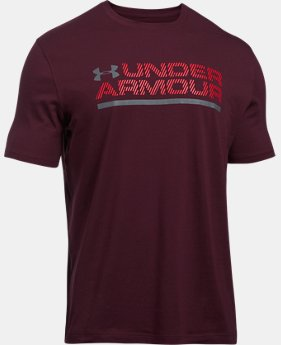 Men's UA Wordmark Lockup T-Shirt  1 Color $24.99