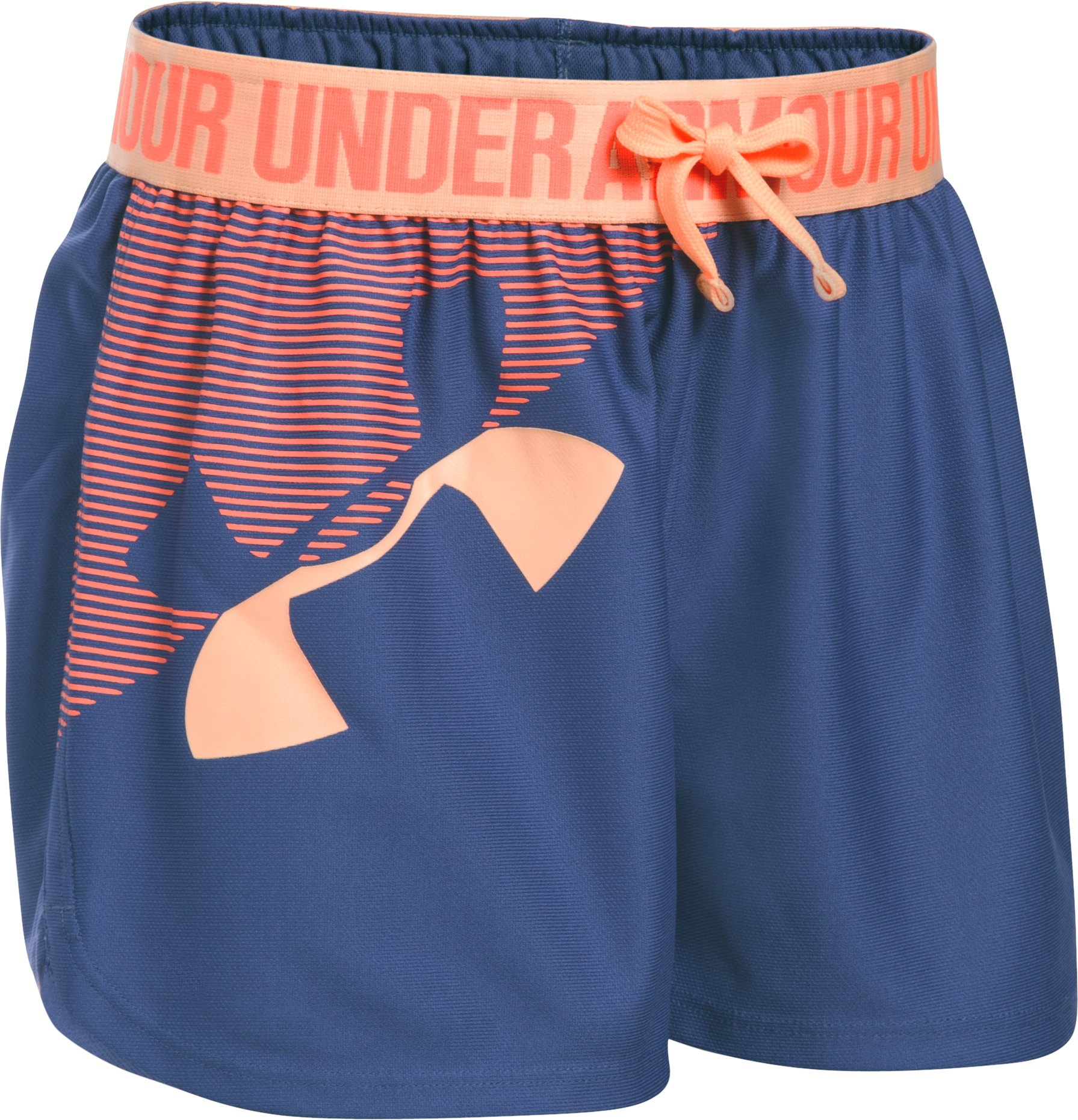 Girls' UA Play Up Graphic Shorts, DEEP PERIWINKLE, zoomed image