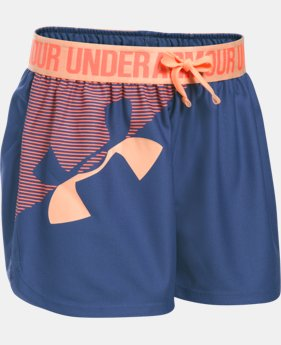 Girls' UA Play Up Graphic Shorts  1 Color $15.59