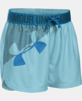 Girls' UA Play Up Graphic Shorts  1 Color $12.94