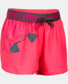 Girls' UA Play Up Graphic Shorts  1  Color Available $13.79