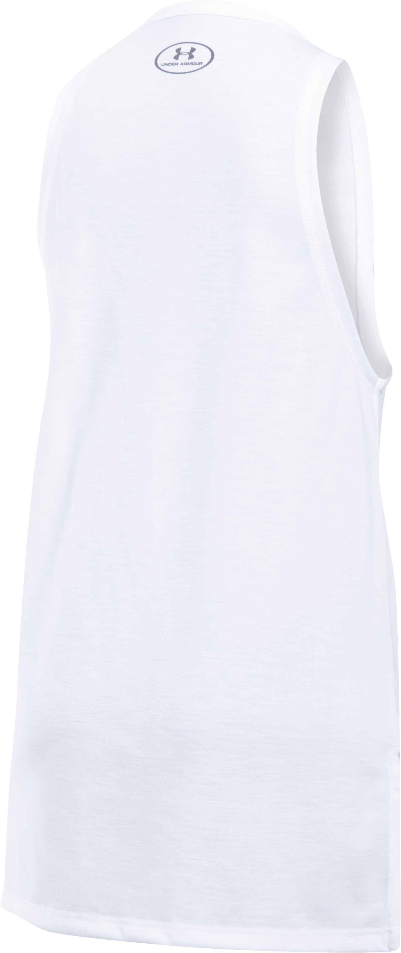 Girls' UA Threadborne Play Up Tank, White, undefined