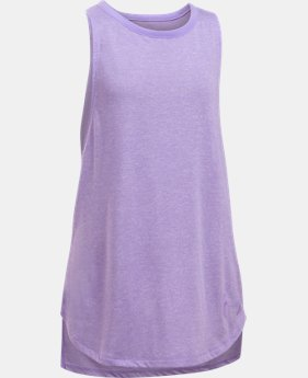 Girls' UA Threadborne Play Up Tank  6 Colors $10.49 to $14.24