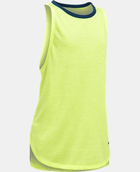 Girls' UA Threadborne Play Up Tank  1 Color $12.5 to $18.74