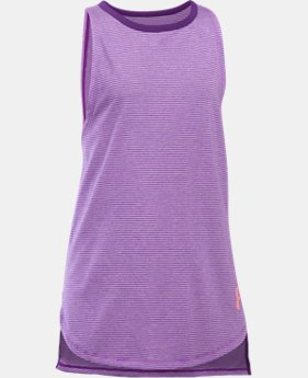 Girls' UA Threadborne Play Up Tank LIMITED TIME: FREE U.S. SHIPPING 1  Color Available $14.99 to $18.99