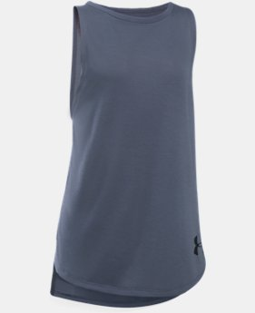 Girls' UA Threadborne Play Up Tank  2 Colors $24.99