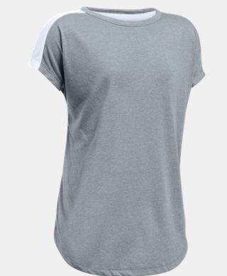 Girls' UA Threadborne Play Up T-Shirt