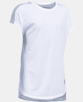 PRO PICK Girls' UA Threadborne Play Up T-Shirt  1 Color $24.99