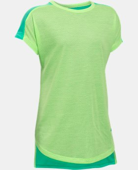Girls' UA Threadborne Play Up T-Shirt  1 Color $13.99 to $17.99