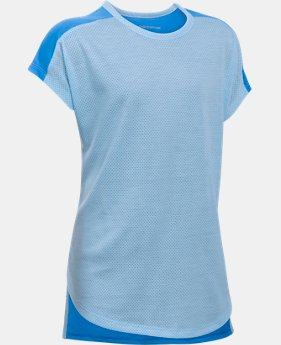 Girls' UA Threadborne Play Up T-Shirt  1 Color $13.49