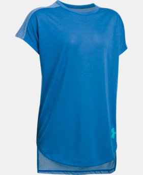 Girls' UA Threadborne Play Up T-Shirt  7 Colors $13.49