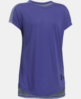 PRO PICK Girls' UA Threadborne Play Up T-Shirt  2 Colors $24.99